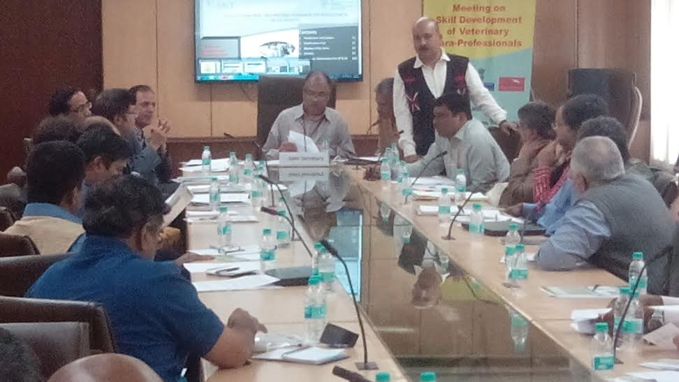 Round Table Discussion on Skill Development for Veterinary Para-professionals on 16th March 2015